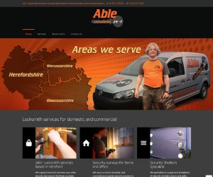 Able 247 website by Zapp Multimedia Gloucestershire UK