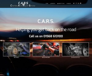 CARS website by Zapp Multimedia Gloucestershire UK
