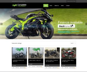 Completely Motorbikes website by Zapp Multimedia Gloucestershire UK