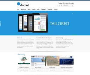 Decent Group website by Zapp Multimedia Gloucestershire UK