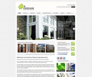 Fareham Home Improvements website by Zapp Multimedia Gloucestershire UK