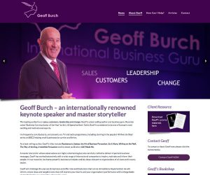 Geoff Burch website by Zapp Multimedia Gloucestershire UK