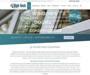 High-Tech Windows website by Zapp Multimedia Gloucestershire UK