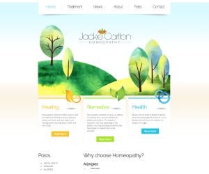 Homeopath website by Zapp Multimedia Gloucestershire UK