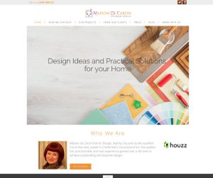 Web Design Maison De Caron by Zapp Multimedia Gloucestershire UK