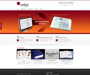 Setfast website by Zapp Multimedia Gloucestershire UK